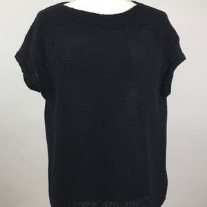 Talbots Black Knit Pull Over Sweater Large